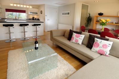 Room with open floor plan