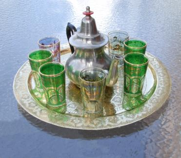 Moroccan tea set.