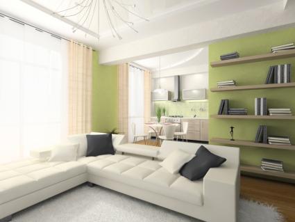 Celtic green living room
