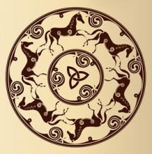 Celtic horse wall art