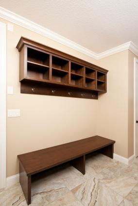 Mud room with cubbies
