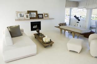 Living room large wall shelf