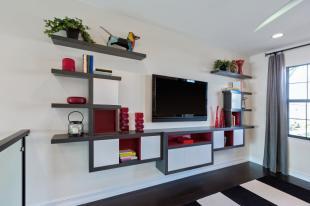 Family Room Wall Shelves
