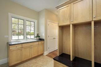 mudroom with sink