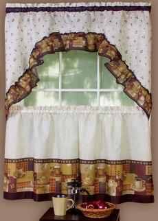 Coffee Cafe-Style Curtains