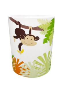 Mainstays Monkey Bath Collection Wastebasket
