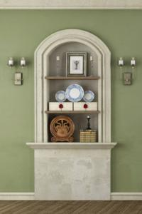 Add shelves to tall niches