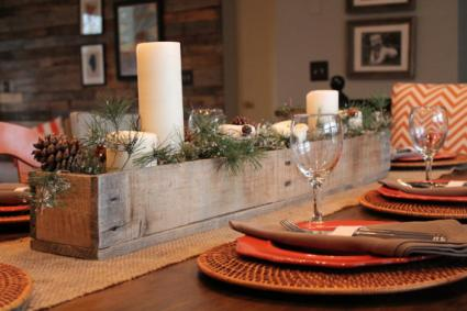 Rustic barn wood centerpiece by Lenny and Jenny Designs