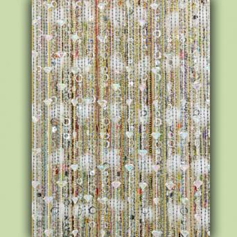 Re-purposed Jewelry Beaded Curtain