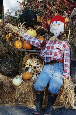 Homemade scarecrow decoration