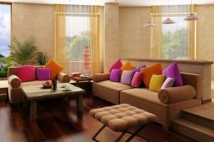 Moroccan Color Inspired Living Room