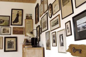 Framed Art on a White Wall Interior