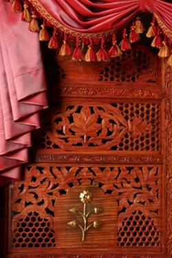 Carved decorative screen