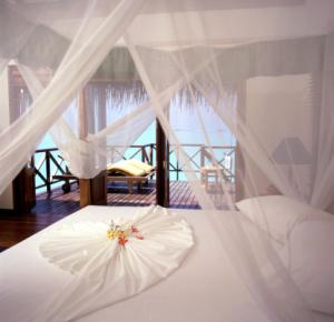 canopy bed with mosquito netting