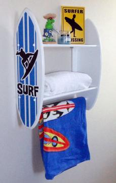 Surf themed room d cor for Space themed bathroom accessories