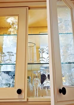textured glass cabinets
