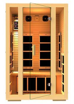 Two-person infrared sauna