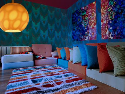 psychedelic decor decorating ideas