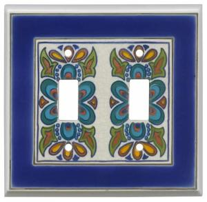 Mediterranean 2 Toggle Switch Plate Cover