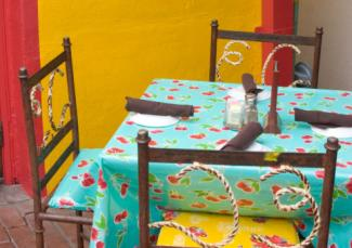 Table linen and chairs for Mexican restaurant