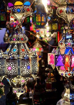 Bohemian style lamps