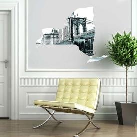 New York State wall decal