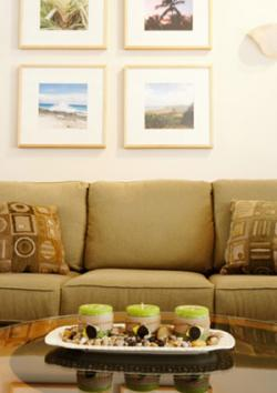 cheap framed images above couch