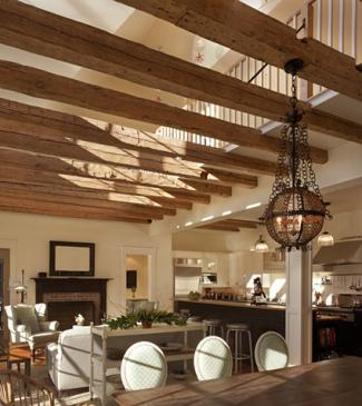 Lowered ceiling beams