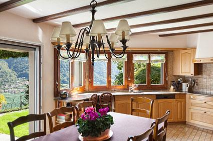 Normal height ceiling beams