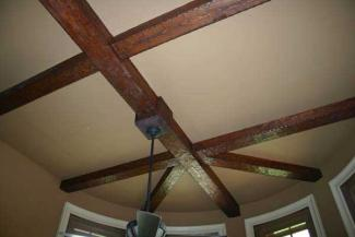 Decorative ceiling beams for Wood box beam