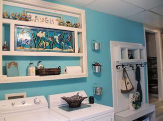 Beach themed laundry room