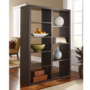 RB Spaces Bookcase Modern MultiShelf Decorative Contemporary Bookshelf