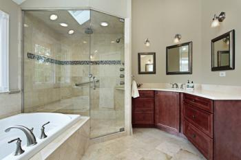 luxury shower in bathroom
