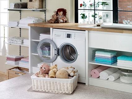 organized laundry room