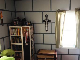 minecraft brick wall - Kids Bedroom On Minecraft