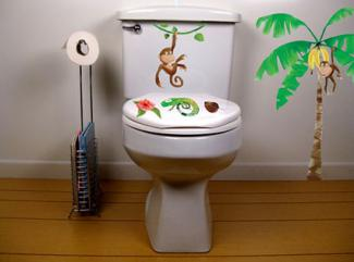 Monkey Bathroom Decals