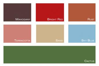 southwestern color swatches