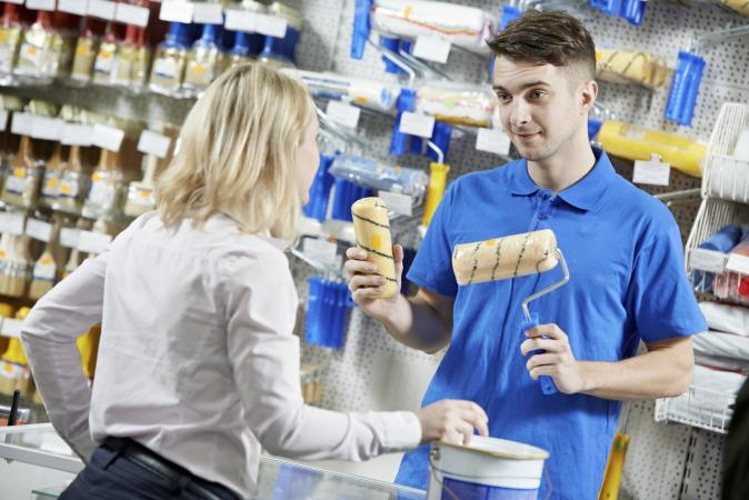 Buying paint supplies