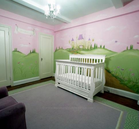 Nursery princess mural by Murals and More by Patrice