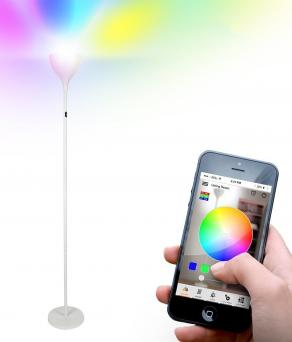 Brightech Kuler SKY Color Changing LED Torchiere Floor Lamp