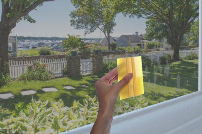 Squeegee window film