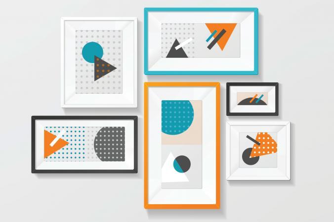 Group of framed art