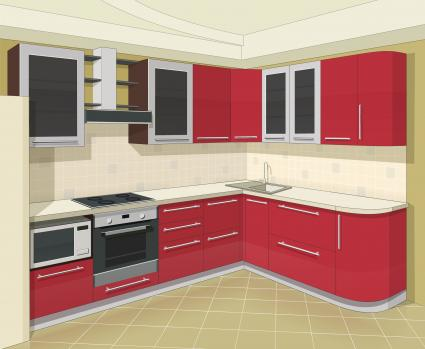 3d Kitchen Layout