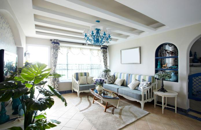Mediterranean living room