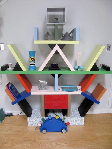 Postmodern interior design lovetoknow for Post modern bookshelf