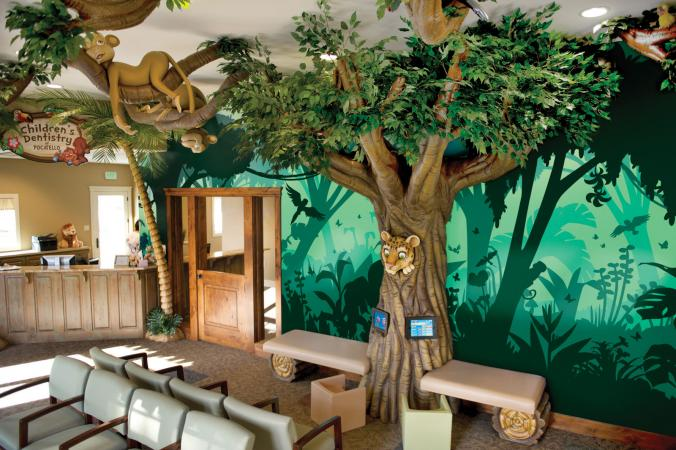 Pediatric office d cor ideas lovetoknow for Jungle garden design ideas
