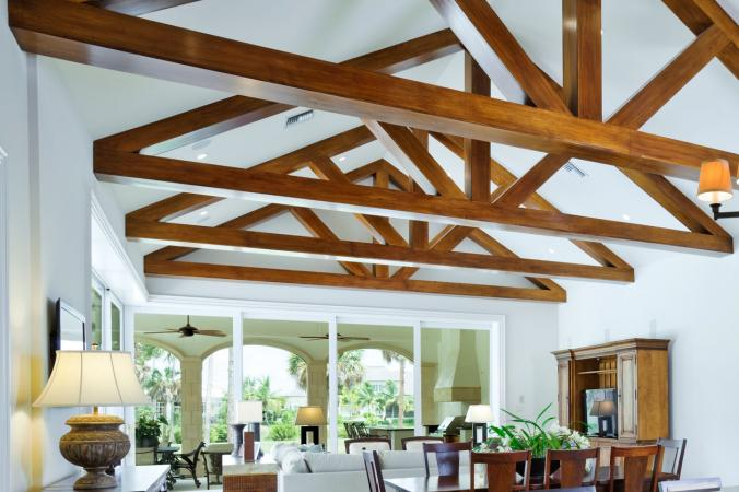 Decorative ceiling beams lovetoknow for Adding wood beams to ceiling