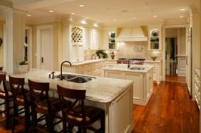 Double islands are a popular modern kitchen design.