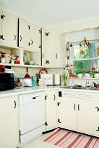 kitchen cabinets in a retro style