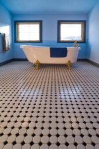art deco tile floor